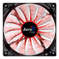 Aerocool Shark 12cm Evil Black Orange LED Fan 15 Blade Fluid Dynamic Bearing - Click below for large images