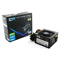 CiT 400W HE Black Edition PSU 12cm Dual 12v CE PFC Model 400HE - Click below for large images