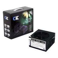 CiT 600W Black Edition PSU 12cm Dual 12v CE PFC Model 600UB - Click below for large images