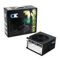 CiT 650W Black Edition PSU 12cm Dual 12v CE PFC Model 650UB - Click below for large images