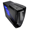 View more info on Aerocool Syclone II Gaming Case Screwless Black/Blue Interior Blue LED Fan...