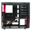 CiT Jupiter Midi Tower Mesh Gaming Case Red LED Fan Black Interior No PSU - Alternative image