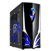 View more info on CiT Mars Midi Tower Part-Mesh Gaming Case with 2 x Blue LED Fans & LED Display...