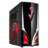 View more info on CiT Mars Midi Tower Part-Mesh Gaming Case with 2 x Red LED Fans & LED Display...