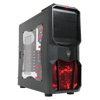 View more info on CiT Neptune Gaming Case 12CM Red LED Fan Side Window Red Screwless Bays...