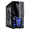CiT Orion Midi Tower Gaming Case 2 x Blue LED Fan + Side Window - Alternative image