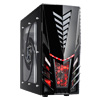 View more info on CiT Orion Midi Tower Gaming Case 2 x Red LED Fan + Side Window...