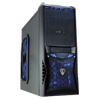 View more info on CiT Vantage Blue Midi Mesh Gaming Case Black Interior 4 Fans (3 Blue LED) Card Reader No PSU...