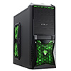 View more info on CiT Vantage Green Midi Mesh Gaming Case Black Interior 4 Fans (3 Green LED) Card Reader No PSU...