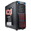 View more info on In Win GT1 Black Midi Tower Gaming Case USB3 Toolless Red LED Fan...