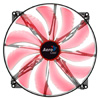 Aerocool Silent Master 20cm Quad Red LED Sleeve Bearing Fan 18dBA - Alternative image